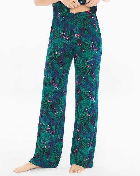 Pajama Pants Amazon Palm Deep Lake