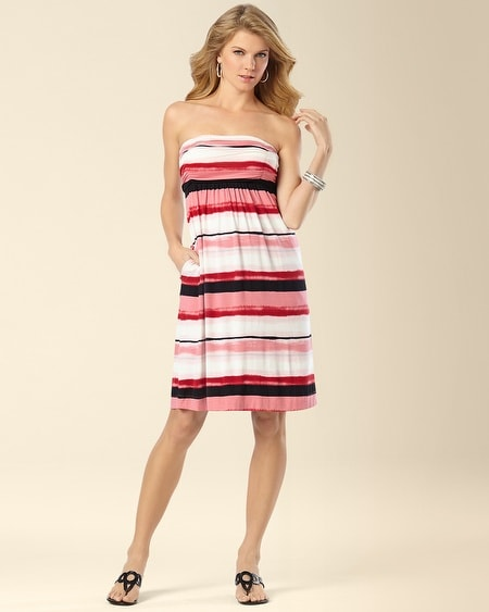 Violet Dress Sunset Stripe Pink