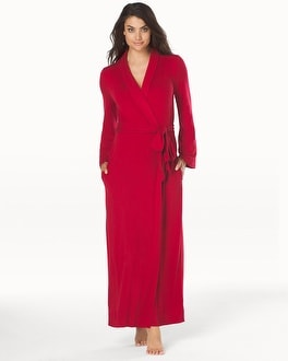 Cool Nights Long Robe Ruby