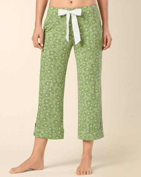 Dotted Tropic Lush Green PJ Crop