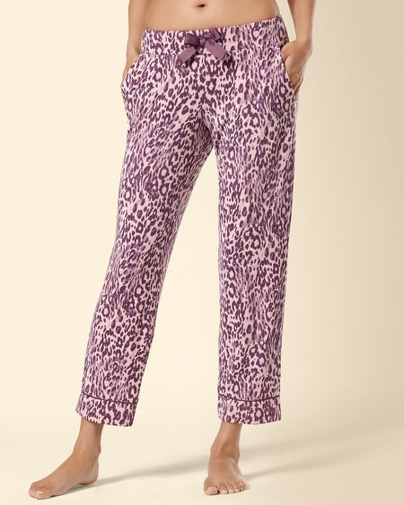 Ankle Pajama Pant Uptown Leopard Rosette