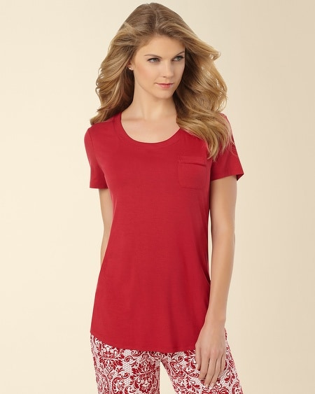 Short Sleeve Pajama Tee Ruby