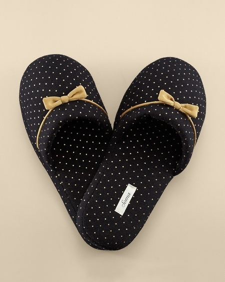 Slipper Little Dot Gold Foil