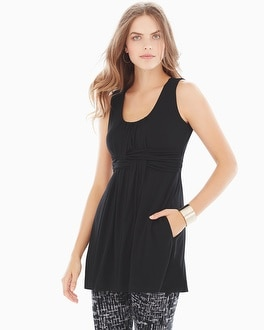 Live.Lounge.Wear. Sleeveless Wrapped Waist Tunic Black