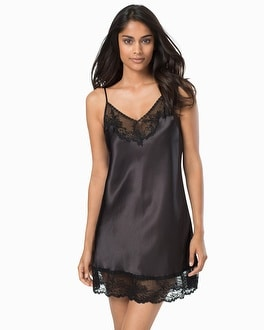 Oscar de la Renta Prism Pretty Sleep Chemise Black
