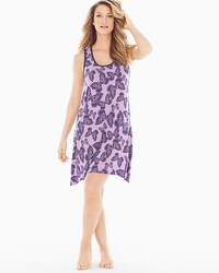 Cool Nights Sleeveless Sleepshirt Bali Butterfly Violetful