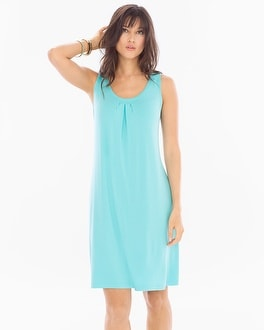 Sleeveless Pleat Front Short Dress Oasis