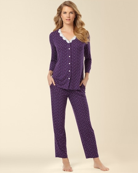 Cardigan Pajama Set Mini Multi-Dot