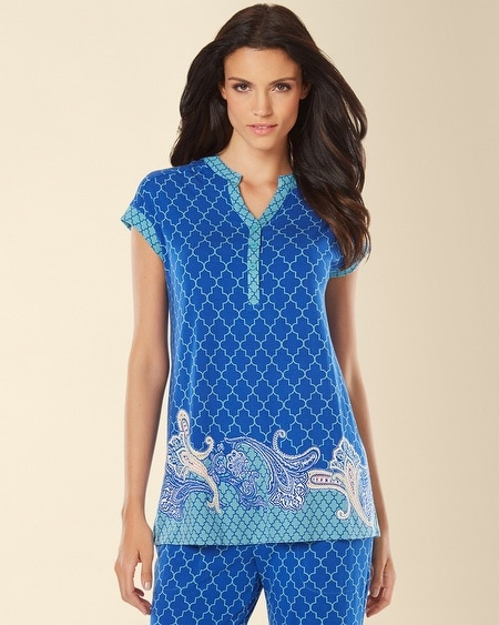 Pop Over Pajama Top Surfside Atlantis Border