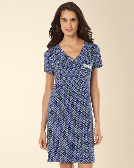 V-Neck Sleepshirt Medallion Mode Atlantis