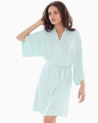 Cool Nights Short Robe Misty Jade