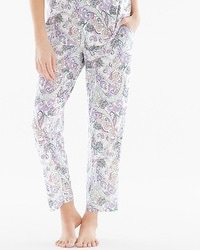 Embraceable Cool Nights Ankle Pajama Pants Lustrous Multi Ivory