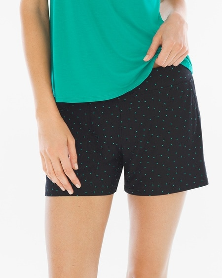 Pajama Shorts Agora Dot Black