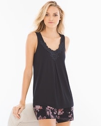 Cool Nights Pajama Tank Black