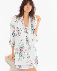 Cool Nights Pajama Wrap Meadow Ivory