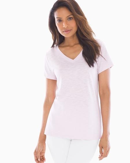 c5c592633012 Soma Intimates. Cotton Blend Slub Short Sleeve Tee Lilac Whimsy