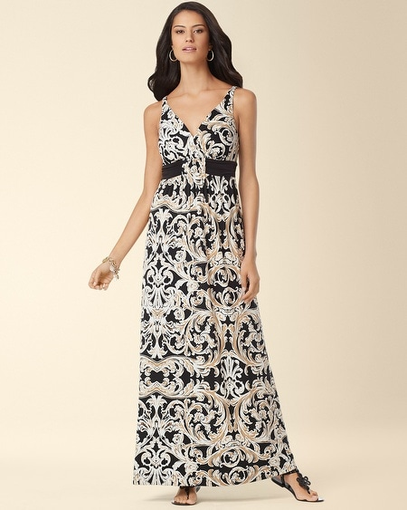 Britney Maxi Dress Empress Scroll Black