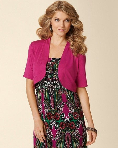French Sleeve Shrug Festival Fuchsia
