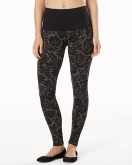 Live. Lounge. Wear. Slimming Legging Lace Tapestry Gold