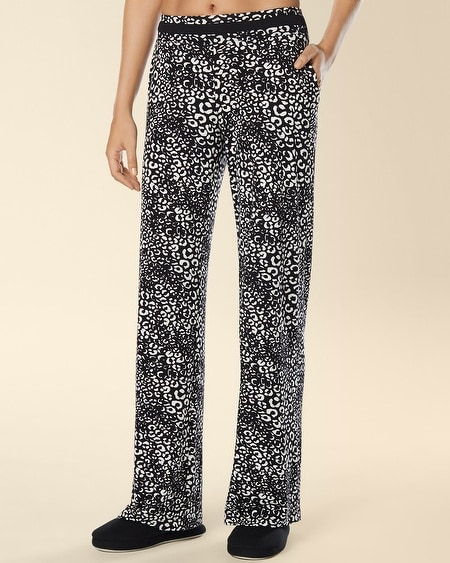 Long Inseam Pajama Pant Edge Black/Ivory
