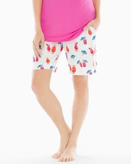 Embraceable Cool Nights Bermuda Pajama Shorts Mai Tai Ivory