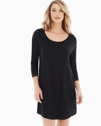 Embraceable Cool Nights Sleepshirt Black