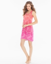 Cool Nights Sleeveless Sleepshirt Bali Palms Rose Violet