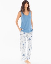 Cool Nights Tank/Pants Pajama Set Tea for Two Riviera