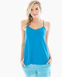 Cool Nights Racerback Pajama Cami Blue Sea