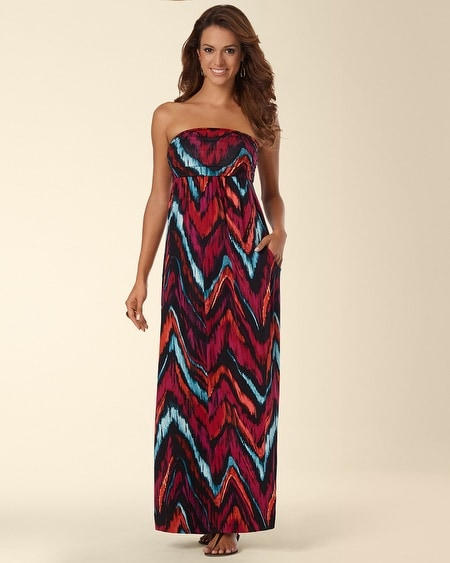 Camille Maxi Dress Fusion Ikat Java