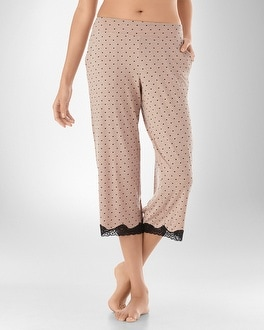 Embraceable Cool Nights Swoon Peachy PJ Crop