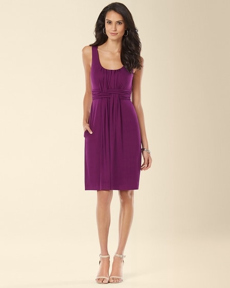 Wrapped Waist Short Dress Warm Plum