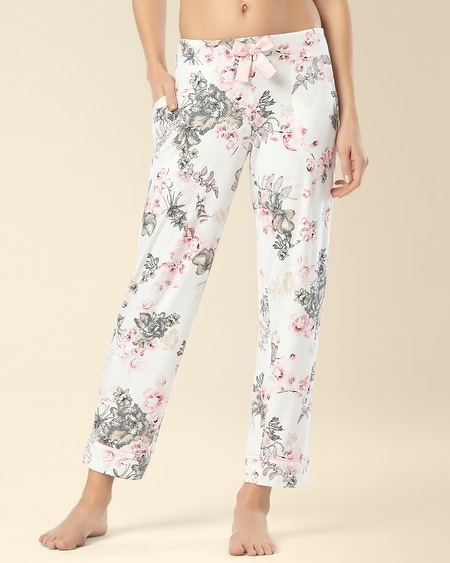 Ankle Pajama Pant Etched Floral