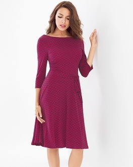 Leota Ilana Scoop Back Dress French Braid Berry