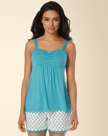 Lace Sleep Cami Paradise Teal