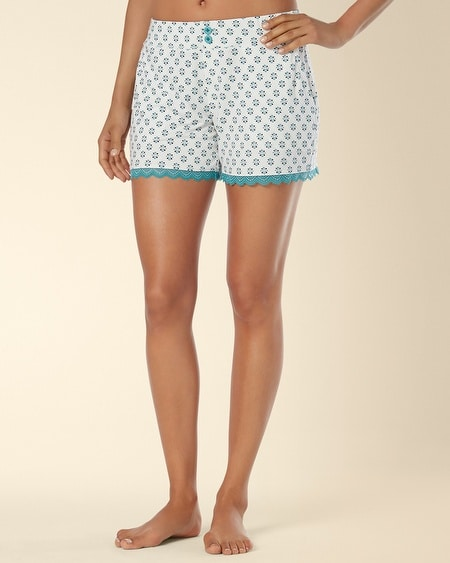 Lace Sleep Short Rhythmic Geo