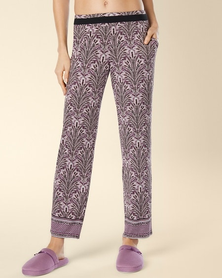 Ankle Pajama Pant Fall Foliage Border