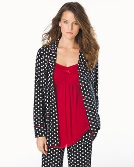Embraceable Long Sleeve Pajama Top Big Dot Black