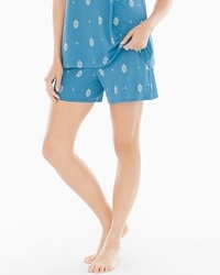 Embraceable Cool Nights Pajama Shorts Joyous Geo Peacock