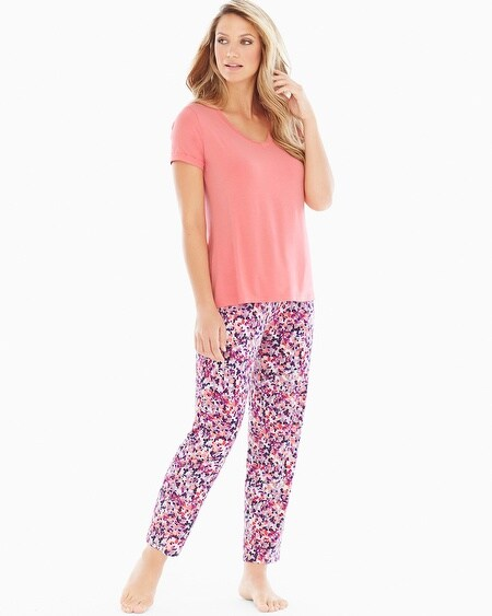 Ankle Pants Pajama Set Speckled Coral Hype