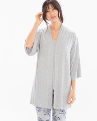 Cool Nights Pajama Wrap Heather Frost