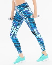Soma Sport Leggings Sprint Stripe Royal