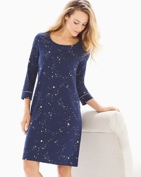 Embraceable 3/4 Sleeve Sleepshirt Mystical Sky Navy