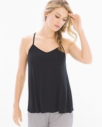 Cool Nights Racerback Pajama Cami Black