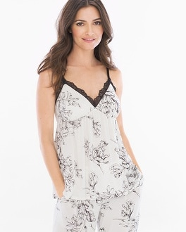 Cool Nights Lace Trim Sleep Cami Ethereal Ivory