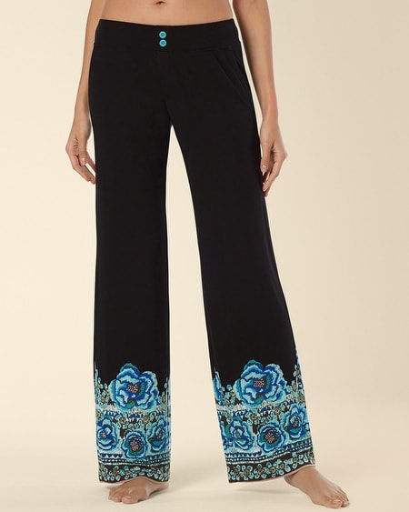 Pajama Pant Painted Batik Black