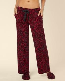 Embraceable Pajama Pant Tapestry Lace Ruby