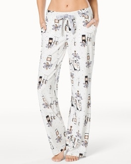 Embraceable Pajama Pants Celebration Ivory