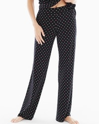 Embraceable Cool Nights Pajama Pants Wondrous Heart Black