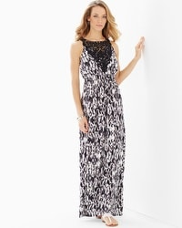 Lace Applique Maxi Dress